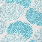 6290-05 NEW CHRYSANTHEMUM Turquoise on White Quadrille Fabric