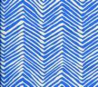 AC303-35 PETITE ZIG ZAG Pacific Blue on Tint Quadrille Fabric