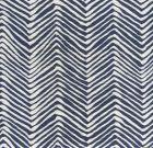 AC303-18 PETITE ZIG ZAG Navy on Tint Quadrille Fabric