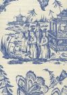306256F ROYAL JOURNEY II New Navy on Tint Quadrille Fabric