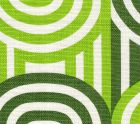 AC210-12 WAVELENGTH Grass Green Leaf on Oyster Quadrille Fabric