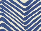 AC305-18 ZIG ZAG LARGE SCALE New Navy on Tint Quadrille Fabric