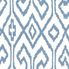7240-08WP AQUA IV French Blue On White Quadrille Wallpaper