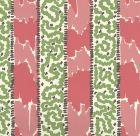 5060-02WP BIJOU STRIPE Jungle Green New Shrimp Brown Quadrille Wallpaper