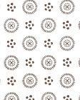 2210-01 CECIL Brown On Almost White Quadrille Wallpaper