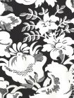 306591W DES GARDES REVERSE Black On Off White Quadrille Wallpaper