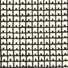 4040-10WP FEZ BACKGROUND Black On Off White Quadrille Wallpaper