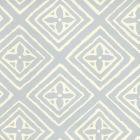 2490-22WP FIORENTINA Windsor Blue Off White Quadrille Wallpaper