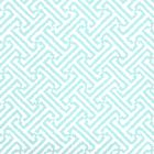 6890WP-17 JAVA JAVA Aqua On White Quadrille Wallpaper