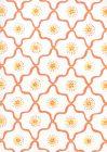 306320W-02WWP LONGFELLOW Orange Yellow On White Quadrille Wallpaper