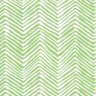 AP303-3 PETITE ZIG ZAG Green On White Vinyl Quadrille Wallpaper
