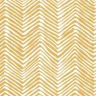 AP303-05PV PETITE ZIG ZAG Inca Gold On White Vinyl Quadrille Wallpaper