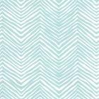AP303-23PV PETITE ZIG ZAG Light Blue On White Vinyl Quadrille Wallpaper