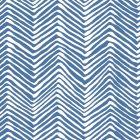 AP303-22 PETITE ZIG ZAG Pacific Blue On White Quadrille Wallpaper