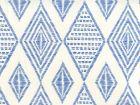 AP850-13 SAFARI EMBROIDERY Royal Blue On Almost White Quadrille Wallpaper