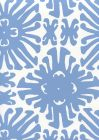 2475WP-12 SIGOURNEY SMALL SCALE New Blue On White Quadrille Wallpaper