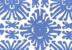 2475WP-13 SIGOURNEY SMALL SCALE Royal Blue On White Quadrille Wallpaper