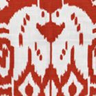 6460-29 ISLAND IKAT Dark Red on White Quadrille Fabric