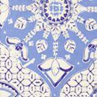 6430-01 NEW BATIK French Blue Navy on Tint Quadrille Fabric