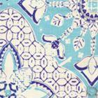 6430-03 NEW BATIK Turquoise New Navy on Tint Quadrille Fabric