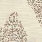 HC1480R-TOBA TAJ Tobacco On Beige Grasscloth Quadrille Wallpaper