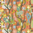 WV1755 Melodi Folk Orange Brewster Wallpaper