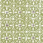 149-53WP NITIK II Jungle Green Brown On Almost White Quadrille Wallpaper