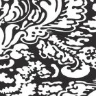 2335-37WP SAN MARCO REVERSE Black On White Quadrille Wallpaper