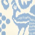 2435-01WP BALI ISLE French Blue On Off White Quadrille Wallpaper