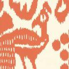 2435-45WP BALI ISLE Orange On Off White Quadrille Wallpaper