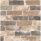 2922-22320 Rustin Reclaimed Bricks Red,Grey Brewster Wallpaper