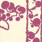 3010-13WP HAWTHORNE Magenta On Off White Quadrille Wallpaper