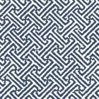 4010-18WP JAVA JAVA Navy On White Quadrille Wallpaper