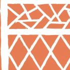6025-05AWP TRELLIS BACKGROUND Orange On Almost White Quadrille Wallpaper