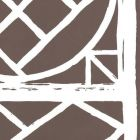 6025W-10 TRELLIS BACKGROUND New Brown On Off White Quadrille Wallpaper