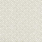 622-14 JAVA PETITE Greige On White Quadrille Wallpaper