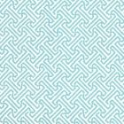 622-25WP JAVA PETITE Aqua On White Quadrille Wallpaper