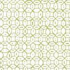 6450-04WWP MELONG BATIK Jungle Green On White Quadrille Wallpaper