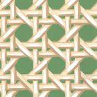 6480WP-09 CLUB CANE Cream Forest Quadrille Wallpaper