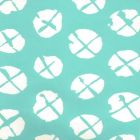 6655WP-01 OBI II REVERSE Turquoise On Almost White Quadrille Wallpaper