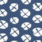 6655WP-09 OBI II REVERSE Navy On Almost White Quadrille Wallpaper