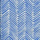 AC303-15 PETITE ZIG ZAG French Blue on Tint Quadrille Fabric