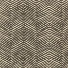 AC303-16 PETITE ZIG ZAG Brown on Tint Quadrille Fabric