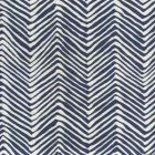AC303-18W PETITE ZIG ZAG Navy on White Quadrille Fabric