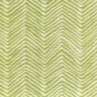 AC303-32 PETITE ZIG ZAG Jungle Green on Tint Quadrille Fabric