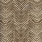 AC303-38 PETITE ZIG ZAG New Brown on Tint Quadrille Fabric