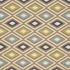 F0808/05 CHEROKEE Indigo Palm Clarke & Clarke Fabric