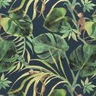 F0998/02 MONKEY BUSINESS Indigo Clarke & Clarke Fabric