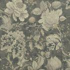 F1048/01 SISSINGHURST Charcoal Clarke & Clarke Fabric