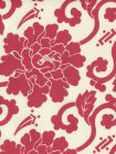 8230-08 FLORALS Burgundy on Tint Quadrille Fabric